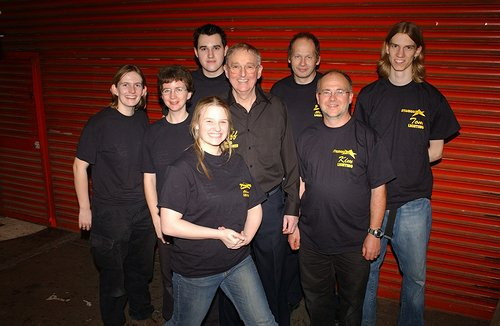 Geoff Bamford and the lighting crew at Starmaker meets Queen