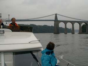 Missing Link with Menai Bridge in background